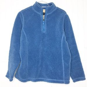 Lands End | Quarter Zip Teddy Fleece